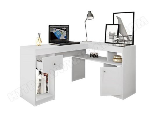 beaux meubles pas chers bureau d angle blanc caisson et rangements ma 18ca549bure 1sfk3