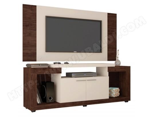 beaux meubles pas chers meuble tv mural 55 pouces maxi wengue blanc ma 18ca487meub qln6o