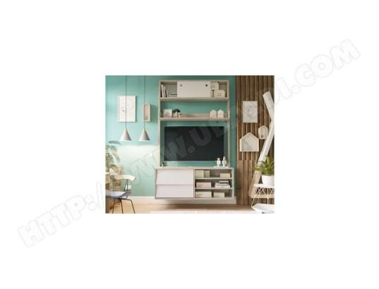 finlandek finlandek meuble tv hannah scandinave couleurs chene et blanc l 110 cm ma 49ca487finl exa7p