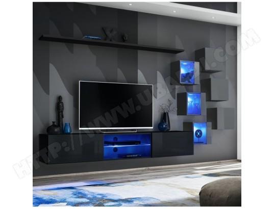 paris prix ensemble meuble tv switch xxi 180cm noir gris ma 12ca487ense yc0a3