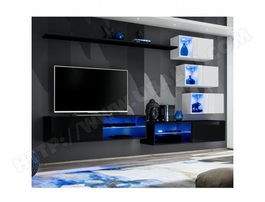 paris prix ensemble meuble tv design switch xxiv 260cm noir blanc ma 12ca487ense runie