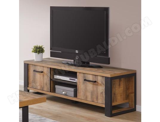 nouvomeuble banc tv industriel couleur bois fonce onnix ma 82ca487banc ccd5e