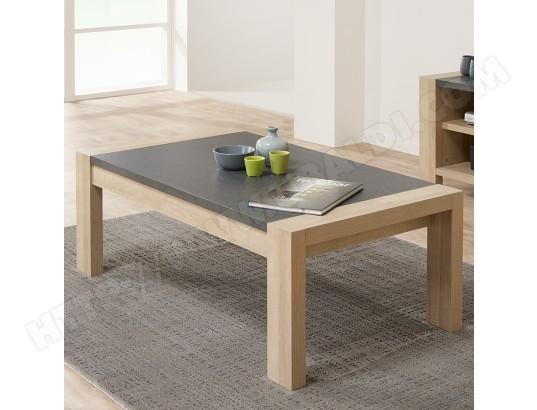 nouvomeuble table de salon couleur bois clair et ardoise hermione ma 82ca182tabl 26lmd