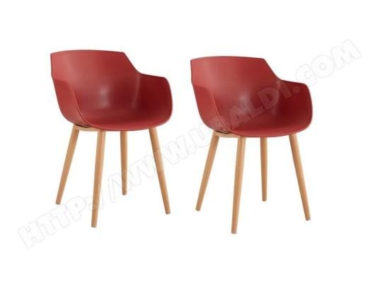 tbd thea lot de 2 chaises de salle a manger style scandinave rouge terracotta l 56 x p 57 x h 79 cm ma 15ca493thea e3nxb