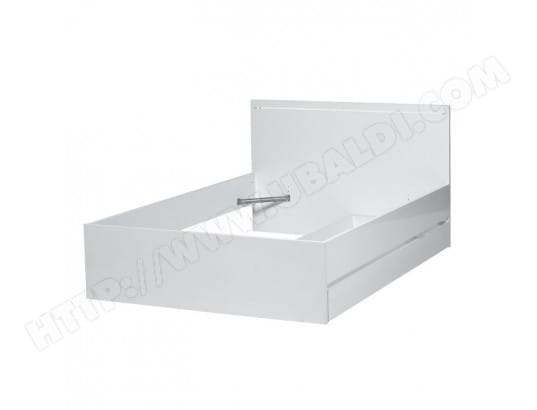tousmesmeubles cadre de lit a tiroir tete de lit 140 200 sapporo l 145 x l 205 x h 47 ma 46ca186cadr htpu3