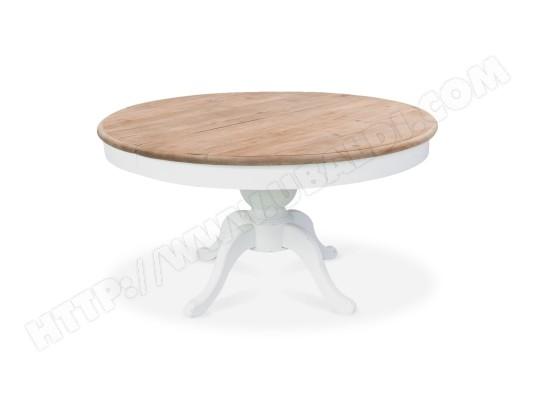 intensedeco table ronde extensible en bois massif sidonie blanc ma 31ca492tabl 3ab0w