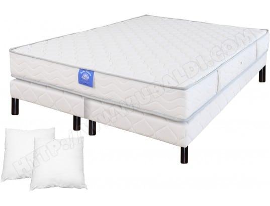 plein sommeil ensemble matelas sommier 160 x 200 lit freedom 160x200 sommier 2x80x200 pied wenge