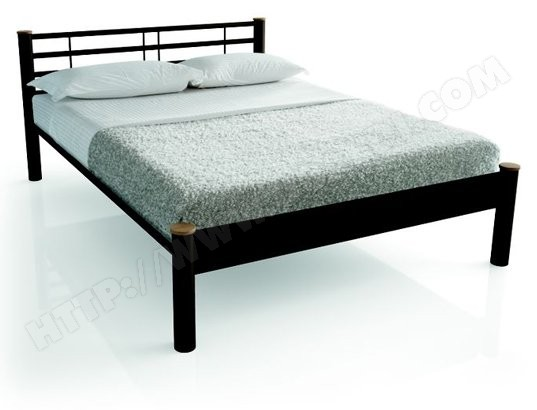 cadre de lit resistub lit oslo 140x190 col chocolat hetre naturel pas cher ubaldi com