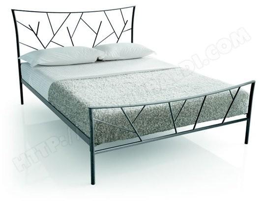 cadre de lit resistub lit brindille 160x200 col gris