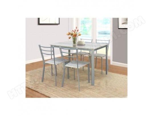 price factory table de cuisine et salle a manger 4 chaises athenes gris et sonoma ensemble repas design metal et bois ma 76ca492tabl d6pxo