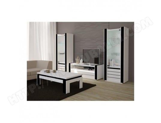 price factory ensemble meuble de salon lina blanc et noir laque ma 76ca43 ense mj5lm