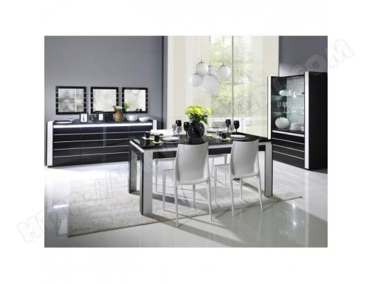 price factory meuble de salon salle a manger lina 9 elements noir et blanc brillant ma 76ca43 meub m9kgq
