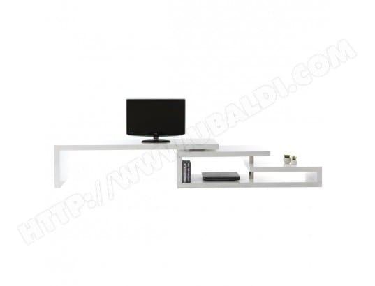 miliboo meuble tv design laque blanc pivotant max v2 22212