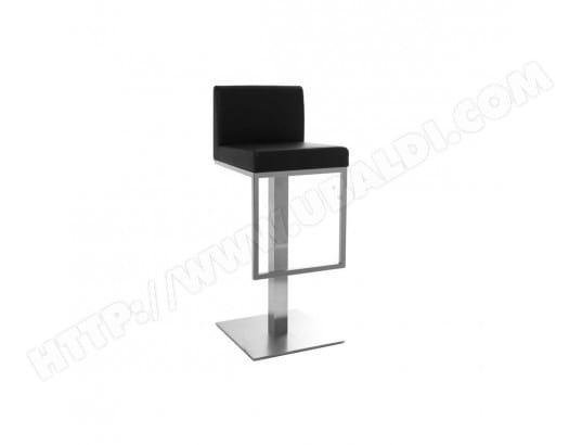 miliboo tabouret de bar design noir omega 23605