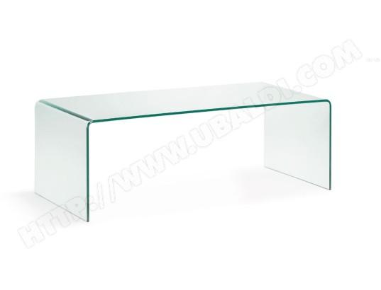 lf table basse burano verre transparent 110 x 50 cm