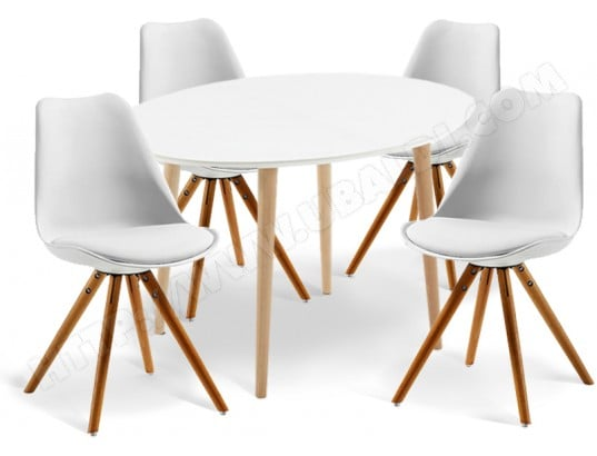 lf ensemble table et chaises table oakland ovale 4 chaises lars