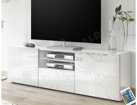 nouvomeuble grand meuble tv blanc laque design elma ma 82ca487gran wmjoi