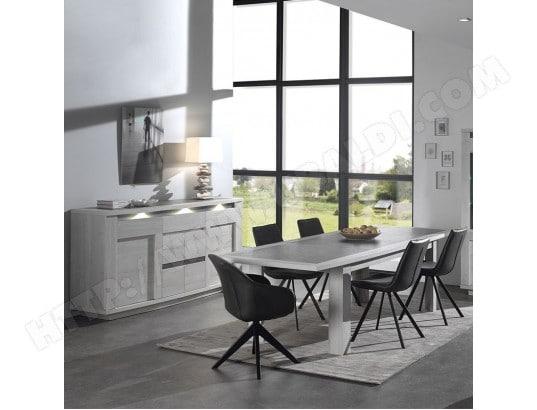 nouvomeuble salle a manger moderne couleur chene blanc et gris childeric ma 82ca492sall winna