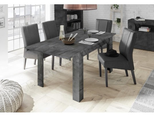 nouvomeuble table a manger 140 cm gris anthracite rallonge 50 cm urban ma 82ca492tabl a10xi