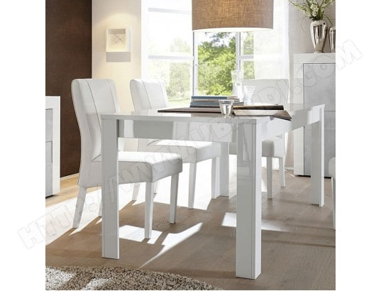 nouvomeuble table a manger extensible blanc laque design tunis ma 82ca492tabl ztii5