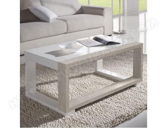 nouvomeuble table de salon relevable blanche et couleur bois clair correze 2 ma 82ca182tabl 6kseu
