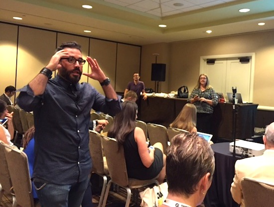 Robert Hernandez, associate professor of professional practice at the USC Annenberg School of Communication and Journalism, spoke about introducing digital media in the classroom during a panel for journalism educators at the Online News Association conference Sept. 24 - 26.