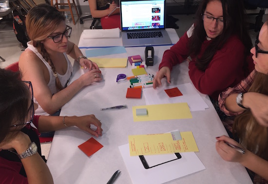 Paper prototyping in a course on Audience Analysis introduces students to issues and challenges of funded research, qualitative methods, and cultural approaches to media studies.