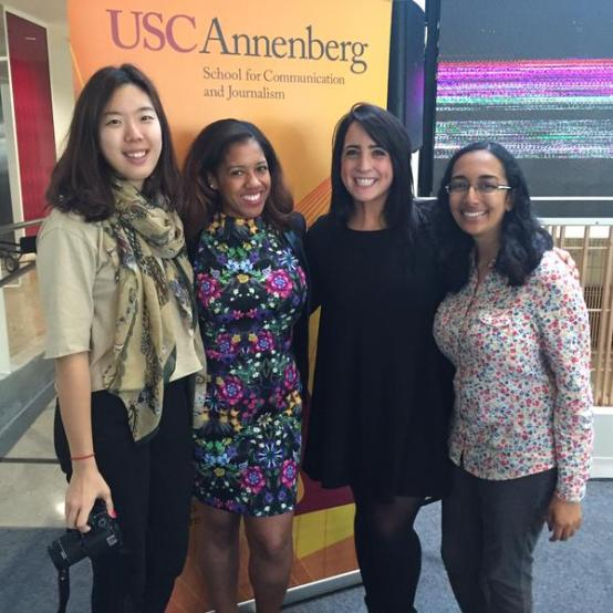 Medill undergrad and grad students at USC Annenberg.