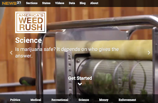 Science section from America's Weed Rush home page