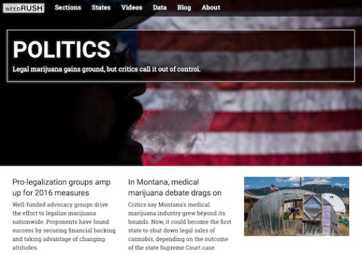 Sections page for America's Weed Rush