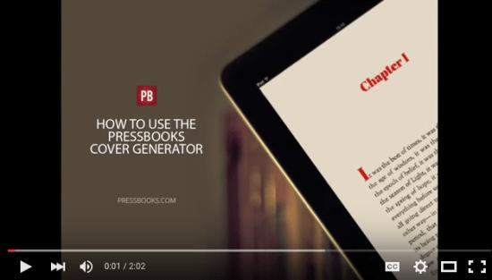 PressBooks Book Cover Generator