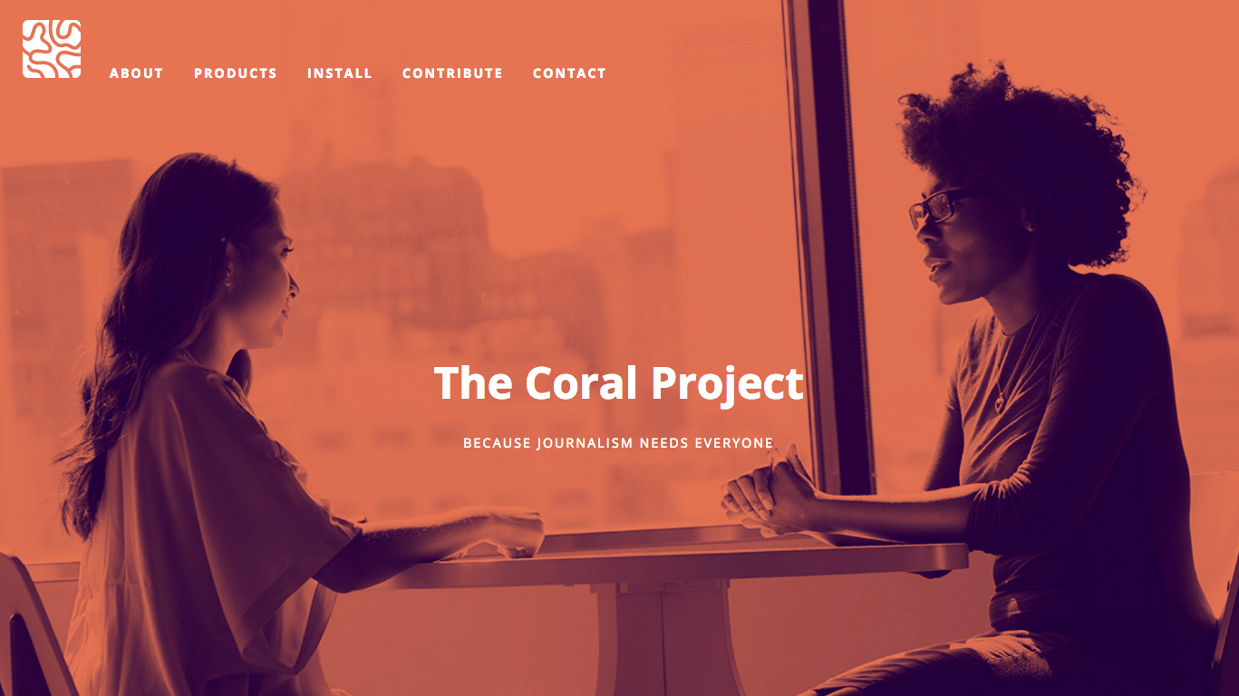 The Coral Project launched a new-and-improved website in September.
