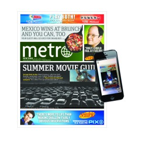 Metro used four or five augmented reality editorial components for its Summer Movie Guide.