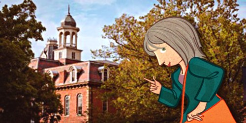 Sarah at WVU (Illustration by Eric Palma)