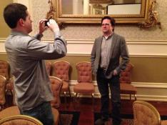 Jordon Brown interviews Rodney Gibbs of Texas Tribune after his presentation.