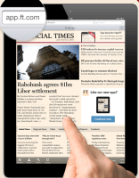 The FT has decided to use Web pages in a browser, rather than native apps.