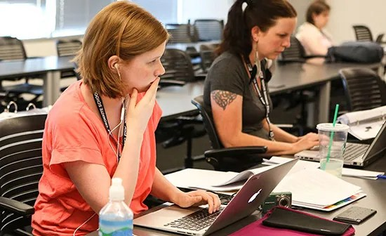 High school teachers attending the Reynolds High School Journalism Institute at Arizona State. Photo by Cronkite School., used here with Creative Commons BY-AC-NC license.