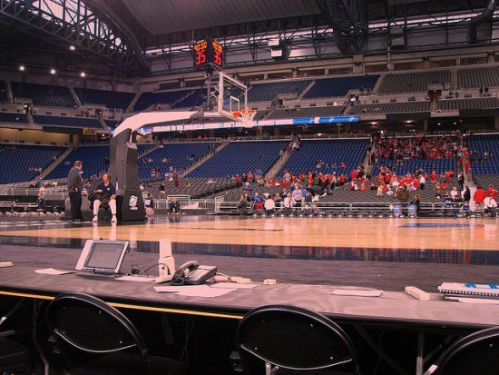 Photo of press row by Dave Hogg and used here with Creative Commons license.