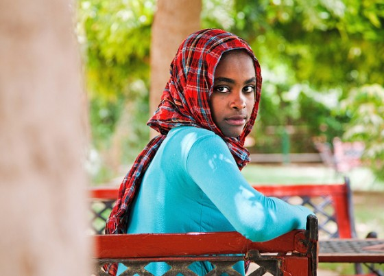 A portrait of 16-year-old Yusra Suleiman al Toum Ahmed in El Fasher, Sudan. Ms. Ahmed is an aspiring journalist. Photo by Albert Gonzalez Farran for the United Nations and reused here with Creative Commons license.