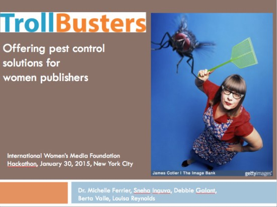 TrollBusters Pitch Deck Home Page