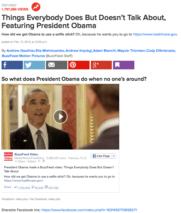 BuzzFeed Obama Video: Viral Success or White House PR Push?