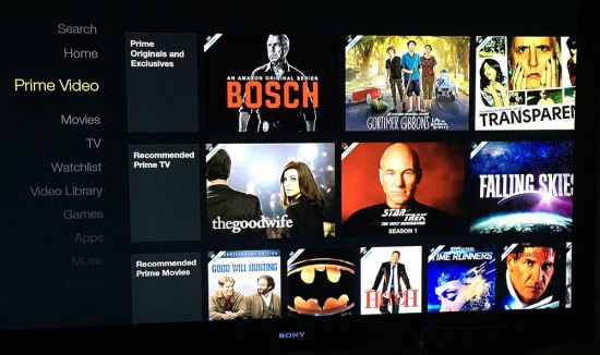 Amazon Fire interface