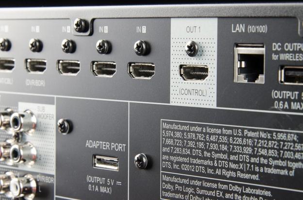 HDMI input poorten (en output) op een versterker
