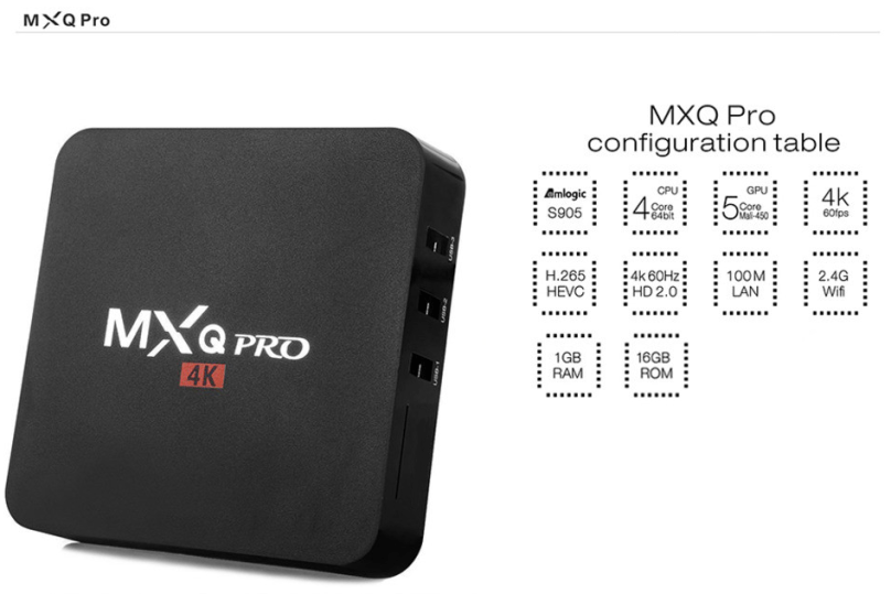 Technische specificaties MediaStax MXQ Pro Box