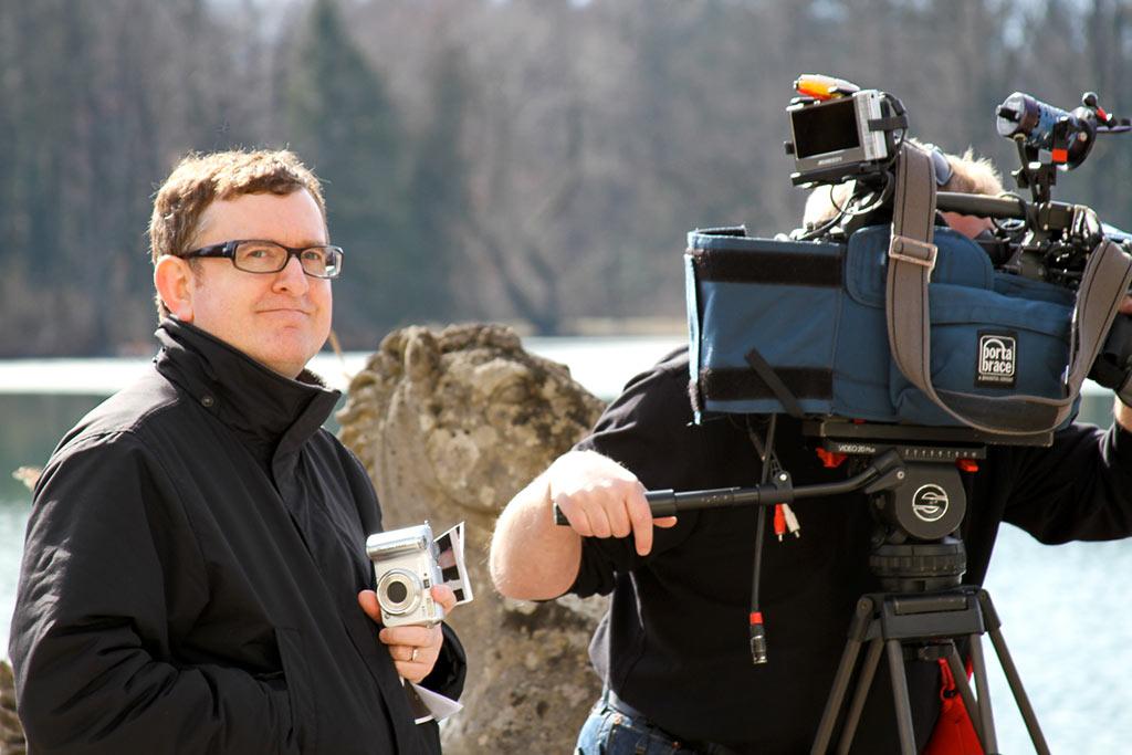 Steven C. Smith filming in Salzburg