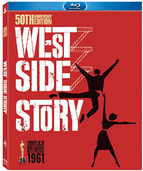 blu-ray DVD cover for West Side Story 50th Anniversary Edition