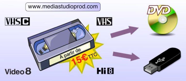 Transfert cassette video
