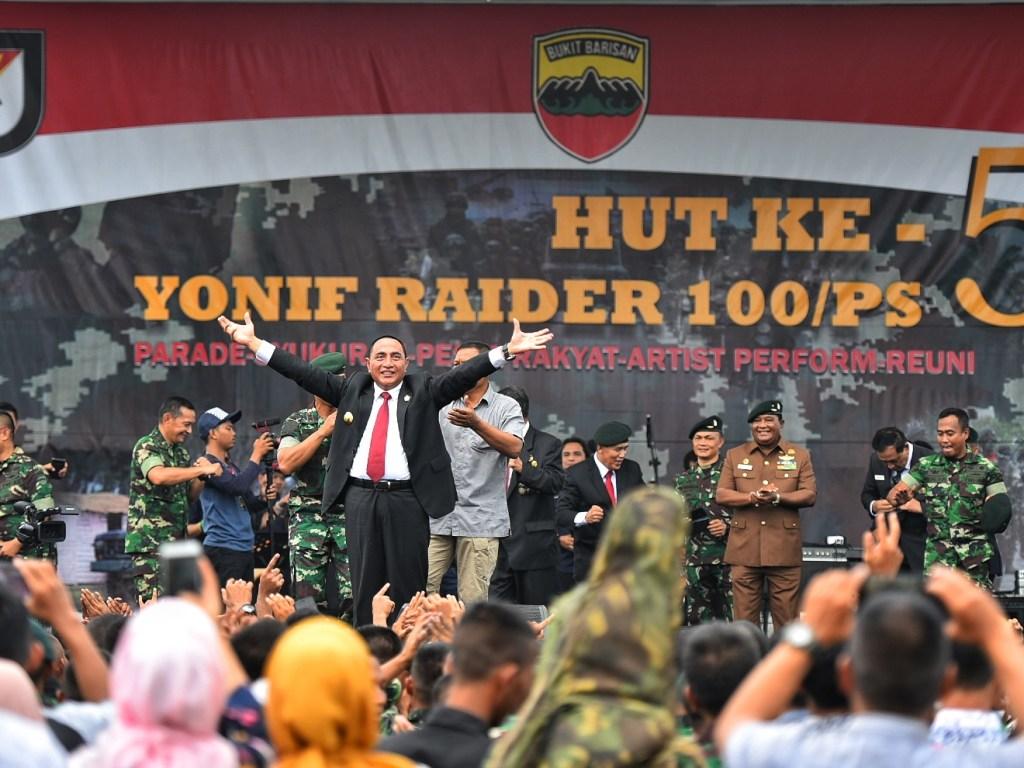 Gubsu Hadiri HUT ke-54 Yonif Raider 100/PS