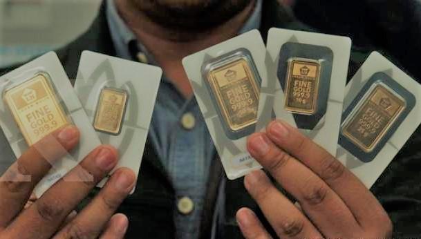 Harga Emas Antam Turun Rp. 10.000,- per gramnya