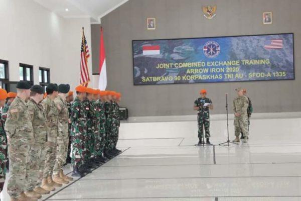 Paskhas TNIAU Gelar Latihan Bersama United States Special Operation Command di Lanud Soewondo Medan